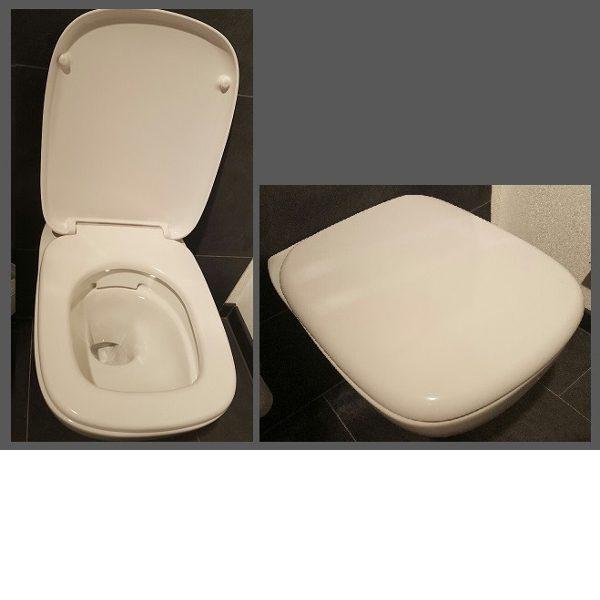 Cara WC-Sitz mit Deckel, weiss Scharniere Edelstahl, mit Absenkautomatik