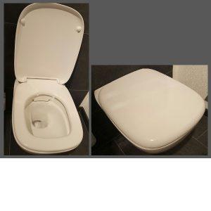 Cara WC-Sitz mit Deckel, weiss Scharniere Edelstahl